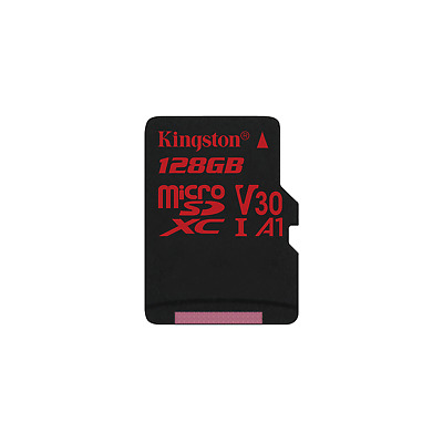 Kingston Canvas React 128 GB microSDXC Speicherkarte (80 MB/s, V30, A1, UHS-I)