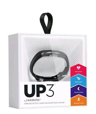 New UP3 by Jawbone Activity Tracker Heart Rate Sleep Black Fitness Health