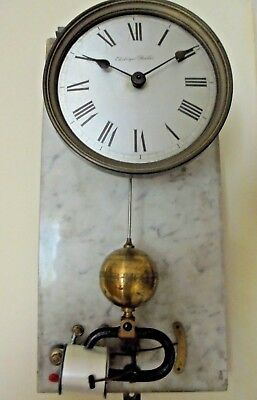 Old Vintage Brillie Electric Battery Centre Seconds Wall Clock Spares Repairs