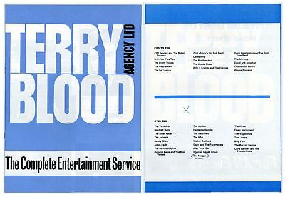 Terry Blood Agency Ents Catalogue The Who Kinks Walker Brothers Hollies 60s
