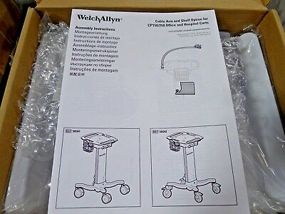 Welch Allyn 105343 Cable Arm & Shelf Cart Option for CP150  NEW
