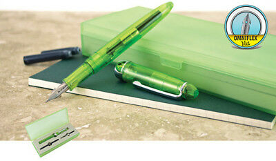 Monteverde Monza Special Edition Fountain Pen, Jolly Green, Omniflex Nib