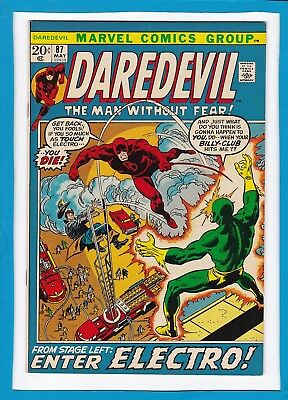 """Daredevil #87_May 1972_Nm Minus_""""from Stage Left...enter Electro""""_Bronze Age!"""