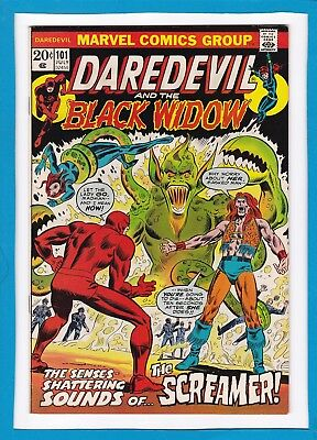 Daredevil And The Black Widow #101_July 1973_Very Fine/near Mint_The Screamer!