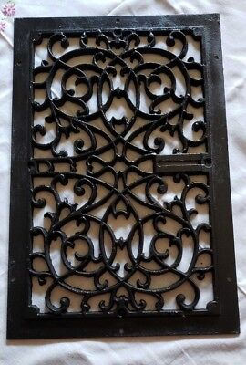Rectangle  Antique Round Cast Iron Ceiling Grate Floor Heat Register Vent.-Heavy