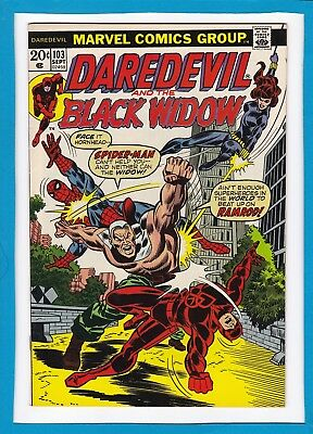 Daredevil And The Black Widow #103_September 1973_Vf/nm_Spider-Man_Bronze Age!