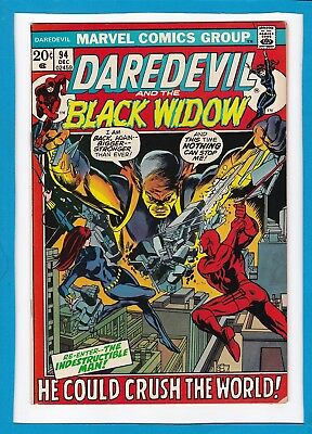 Daredevil And The Black Widow #94_December 1972_Vg/f_Indestructible Man!