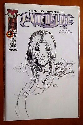 WITCHBLADE SKETCH Cover DF Exclusive COA Dynamic Forces Top cow Image Comic #40