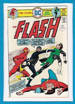 "The Flash #235_Aug 1975_Vf+_Green Lantern_""vandal Savage: Wanted Dead & Alive""!"