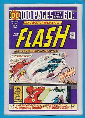 THE FLASH #232_APRIL 1975_FINE/VERY FINE_KID FLASH_BRONZE AGE DC 100 Pg GIANT!