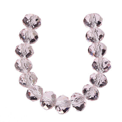 6x4mm Pink100pcs  Faceted Crystal Charms Wedding Decorate Rondelle Loose Beads