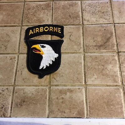 Vintage US ARMY 101st Airborne Division PX Patch +2 Copper Dollar Coins, Lot.