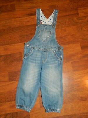 Girls' H&M Denim Jeans Dungarees Age 12 - 18 Months
