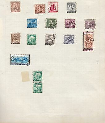 INDIA Collection on Old Album Page stamps removed for shipping(a)