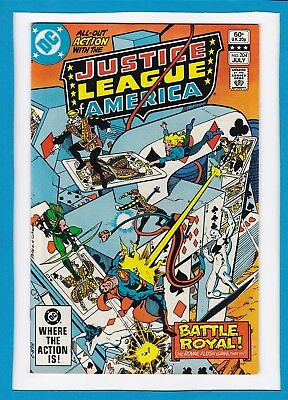 Justice League Of America #204_July 1982_Near Mint Minus_The Royal Flush Gang!