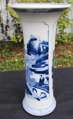 SUPERB ANTIQUE 19thC CHINESE BLUE & WHITE VASE