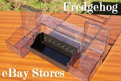 A PACK OF 3 x MINIDISC STORAGE CASES/ BOXES - CLEAR TOP FOR SUPER VISIBILITY