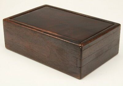 Vintage Chinese Hardwood Office Box Decorated With Old Handmade Collection