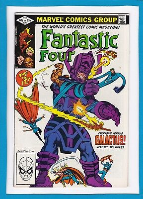 Fantastic Four #243_June 1982_Vf+_Galactus_Spider-Man_Signed By John Byrne!