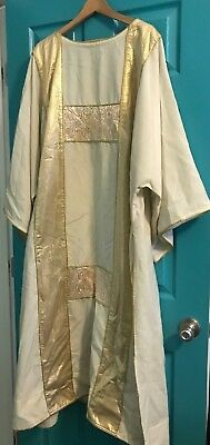 Gorgeous Catholic Deacons Ivory & Gold Brocade Dalmatic Vestment Cooper Canada