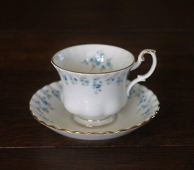 Royal Albert Memory Lane ( Forget me Not ) Tea Cup & Saucer 2nd Quality