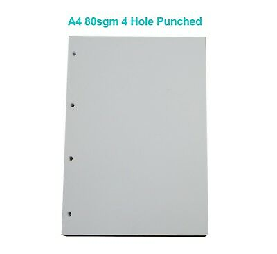 5 Reams 1 Box 4 Hole Punch Punched A4 80 GSM Printing Copier Paper White