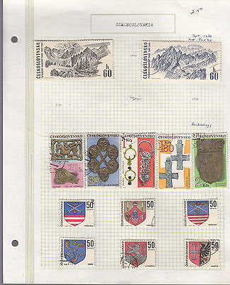 CZECHOSLOVAKIA 1969 Collection On old Album Page VFU Removed for Ship.(u)