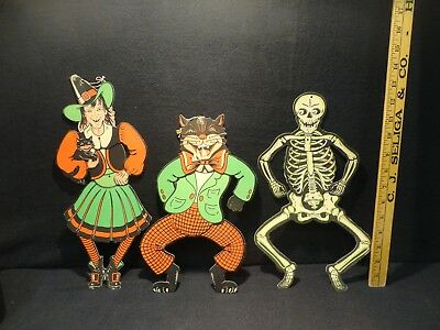 VINTAGE 1960'S BEISTLE Jointed Halloween Decorations Lot of 3 - $38.00   PicClick