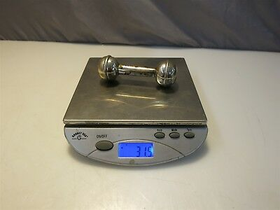 1996 Birmingham England Sterling Silver Dumbell Baby Rattle. 31.5g