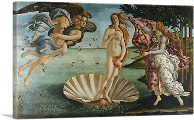 ARTCANVAS The Birth of Venus 1485 Canvas Art Print by Sandro Botticelli