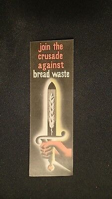 Join The Crusade Against Bread Waster June 1946 Card Post WWII
