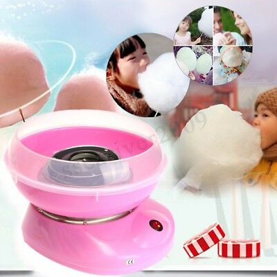 Electirc Candyfloss Making Machine Cotton Sugar Candy Floss Maker Party Pink