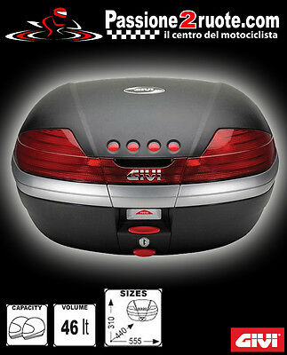 givi top box v46 v46n with plate for bmw r 1150 rt year 2002 > 2004