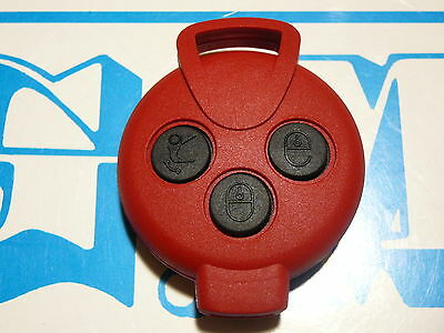 Cover Red Buttons Black Smart Mhd For Two 451 Brabus Pure For Key Remote Control