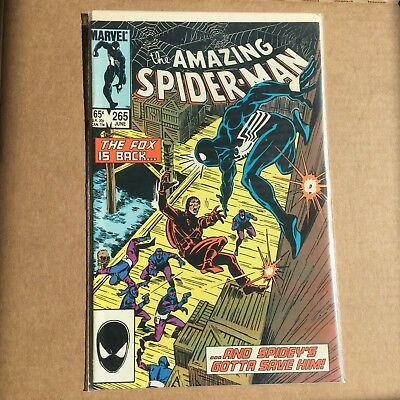 THE AMAZING SPIDER-MAN #265 COMIC 1985 1st Appearance of Silver Sable High Grade