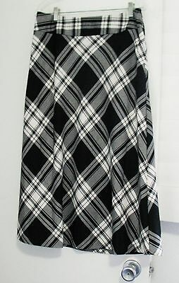633b7bf4a13181 LAURA SCOTT WOMENS Plaid Skirt New Navy Sz L - NWT -  15.99