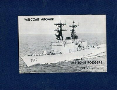 DD 983 USS JOHN ROGERS WELCOME ABOARD Booklet US Navy Ship Squadron Pamphlet