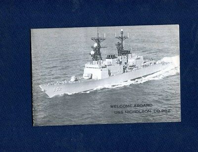DD 982 USS NICHOLSON WELCOME ABOARD Booklet US Navy Ship Squadron Pamphlet