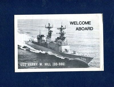 DD 986 USS HARRY W HILL WELCOME ABOARD Booklet US Navy Ship Squadron Pamphlet