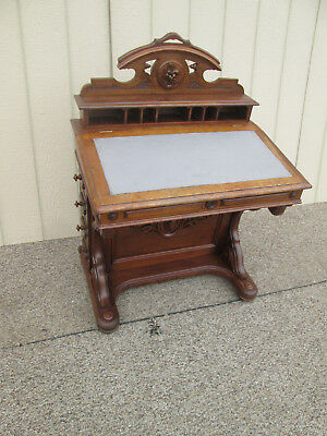 59074  Antique Victorian Walnut Davenport Desk