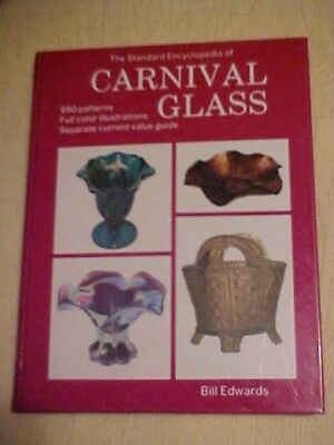 Book STANDARD ENCYCLOPEDIA OF CARNIVAL GLASS ID & VALUES 650 PATTERNS; RED COVER