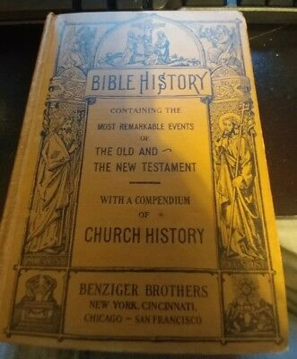 Vintage Catholic Book - Bible History - Bishop Gilmour - Benziger Brothers 1936