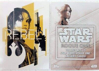 Star Wars ROGUE ONE Series 1 GALLERY Trading Card Set of 10 topps 2016 G1-10