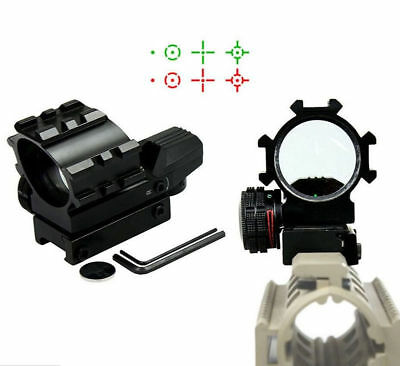 Hunting Optical Red Green Reflex 4 Reticles Dot Scope+Red Laser Sight Outdoor
