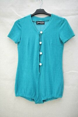 SHORELINE Vintage Size 6-8 GORGEOUS Beach Playsuit FUNKY Terry Cloth AS NEW!