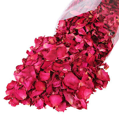 100g Dried Rose Petals Natural Dry Flower Petal Spa Whitening Shower Bath Too FB