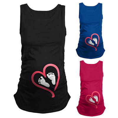 Christmas Maternity T-shirt Funny Baby Peeking Loading Pregnant Women Vest Tops