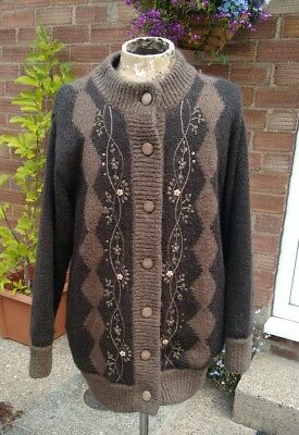Beautiful vintage mohair mix / beaded cardigan / jacket size:Free size excellent