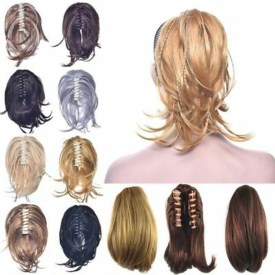 1x Claw Thick Wavy Curly Pony Tail Long Layered Ponytail Clip In Hair Extensions