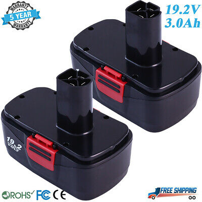 2x 19.2V 3.0Ah Battery Pack for Craftsman Diehard C3 19.2 Volt 315.115410 Tools